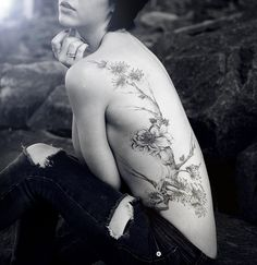 Side Tattoo Flowers