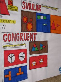 similar vs. congruent chart