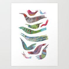 oiseaux Art Print by Felicita Sala - $20.00