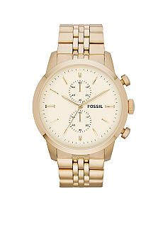 Fossil® Mens Gold-Tone Stainless Steel Chronograph Townsmen Watch #belk #gifts #men