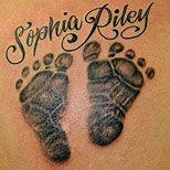 Love the footprint tattoos!