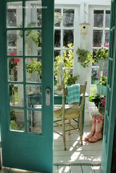 Garden Room tea time, the doors, aiken hous, door colors, afternoon tea, kitchen, garden, design idea, craft rooms