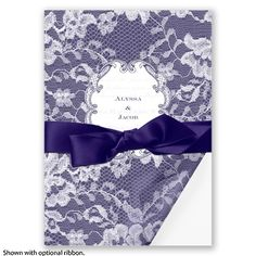 Lace Wrap - Marine - Invitation | Invitations By David's Bridal