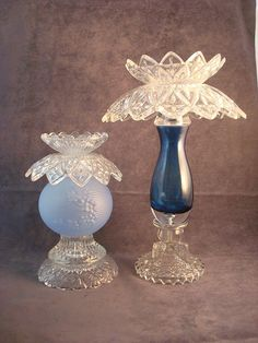 Glass garden art or candle holder made with by ReCreationsInGlass, $45.00