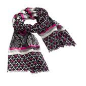 Wool Scarf | Vera Bradley in Canterberry Magenta