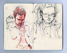 art stuff, außergewöhnlich moleskin, sketchbook feat, jame jean, jeans