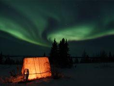 aurora borealis. manitobia. setting inspiration.