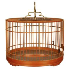 19th Century Chinese Bamboo Bird Cage