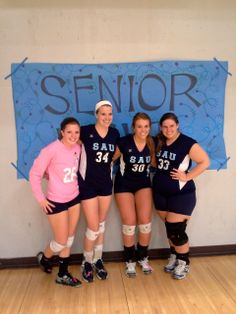 Four Bees on our senior night for volleyball.