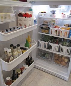 Organize your fridge with this tutorial and 45 of the BEST Home Organizational & Household Tips, Tricks & Tutorials with their links!! Party and event prep, too! conversation starters, refrigerator organization, organizing tips, household tips, fridge organization, organizational tips, organization ideas, design blog, home organization