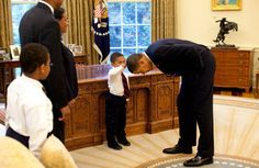 he wanted to know if the President's hair felt like his.