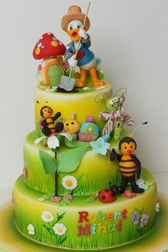 beauti kid, viorica cake, cake beauti, ducks, bee cake, kids, children cake, amaz cake, kid cakes