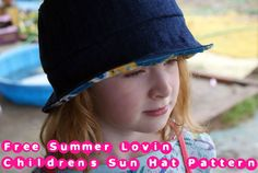 Free Sewing Pattern - Children's Sun  Bucket Hat