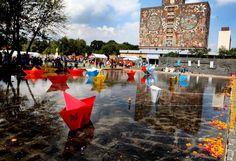 La megaofrenda de la UNAM está dedicada a la pintora surrealista Remedios Varo, fallecida hace 50 años.  Adrián Hernández / EL UNIVERSAL #diademuertos