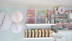 Love this craft room storage