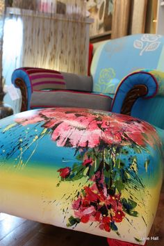 Hand Painted Ottomans
