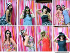 idea for photo booth for the tea party