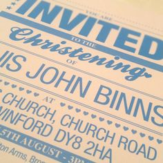 christen idea, christen invit, christening invite