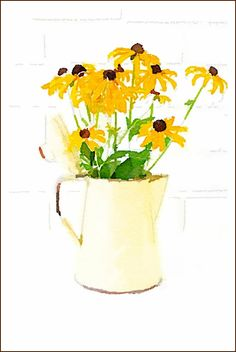 DIY Fall Watercolor Printables   Black Eyed Susans   On Sutton Place