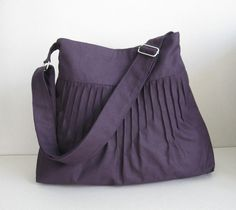 Deep Purple Canvas Lines MultiPurpose Bag with Extra by tippythai, $35.00