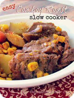 Cowboy Beef Roast Slow Cooker Recipe