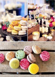 party favors, dessert tables, dessert buffet, party desserts, french macaroons, french macaron, french desserts, bridal showers, bridal shower favors