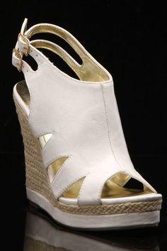 Gaelle Wedge In White http://www.beyondtherack.com/member/invite/B7C53751
