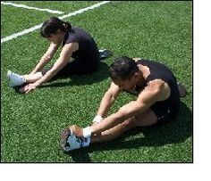 Flexibility training section gymnastics