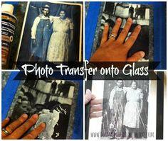 Photo Transfer to Glass Tutorial
