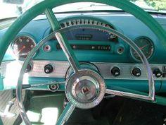 turquoise, vintage car
