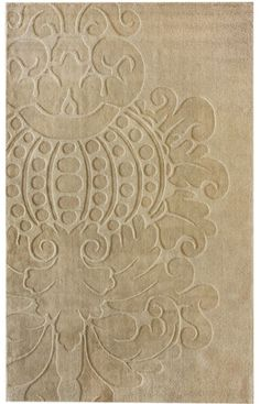 "$479 Rugs USA Tuscan Damask Ivory Rug    7'6"" x 9'6"""