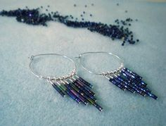 Spice up some simple silver hoops with this video tutorial for Tapered Seed Bead Dangle Hoops. So easy!