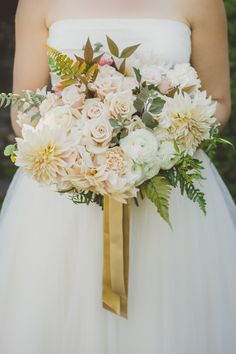 Dahlia bridal bouquet | flowers by Clare Day Flowers | photo by Ameris | 100 Layer Cake