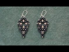 Beading4perfectionists : Superduo beads & miyuki seedbeads earrings beading tutorial