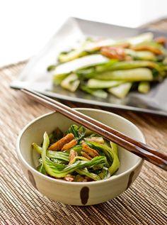 Bok Choy with Pecans and Lemongrass Recipe