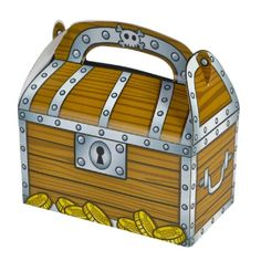 Treasure Chest Treat Boxes  (Bulk Pack of 12 Boxes) at theBIGzoo.com, an animal-themed store established in August 2000.