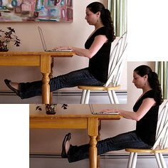 Desk Exercises to Strengthen Abs, Thighs, and Buns Photo 1