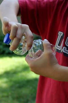 Water bottle popper.  This is a great experiment for boys.