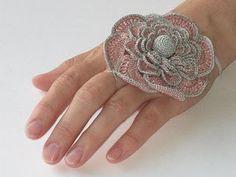 crochet flowers, inspiration, innovart crochet, en crochet, crochet jewelri