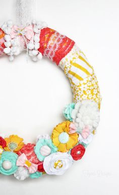 Bright and Fun Spring Wreath