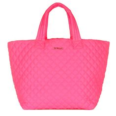 MZ Wallace Large Metro Tote in Neon Pink Shop | Our ultimate travel, gym, all-purpose tote in a bold bright neon pink. Our incredibly lightw...