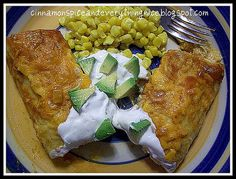 Baked Sour Cream Chicken Enchiladas with Red Sauce