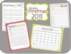 Fabulous organizing printable for the holidays