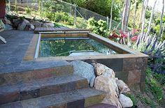 An Endless Pool can be installed even in sloped environments