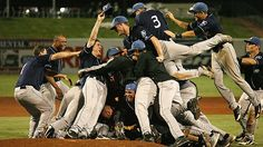 Tourists celebrate a title  Credit: Dano Keeney  The Class A Asheville Tourists, a Rockies affiliate, leap on top of reliever Alex Gillingham after he picked up the final out to beat Greensboro, 10-4, to win the South Atlantic League championship on Sept. 14.