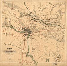 1864 - historic map of Richmond, Virginia - Interesting that this map says it was published in New York (in the middle of the war??)