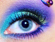 bright eyeshadow.