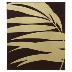 "Contemporary linen wall art in gold and brown.   Product: Wall artConstruction Material: Linen and woodDimensions: 28"" H x 24"" W x 1.5"" D $52"