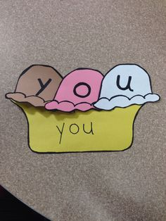 Sight word sundae thanks to a pin a I saw!