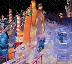 ice slide, ICE at the Gaylord Texan, Grapevine, Texas